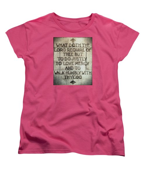 Women's T-Shirt (Standard Cut) featuring the photograph The Writing Is On The Wall by Glenn McCarthy Art and Photography