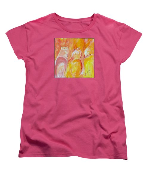 Women's T-Shirt (Standard Cut) featuring the painting there I AM by Cassie Sears