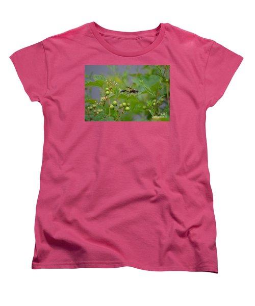 Women's T-Shirt (Standard Cut) featuring the photograph Thread-waist Wasp by James Petersen