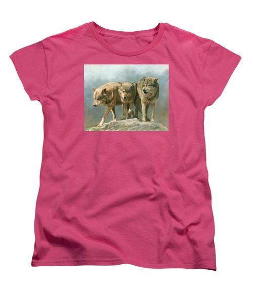 Three Wolves Women's T-Shirt (Standard Cut)