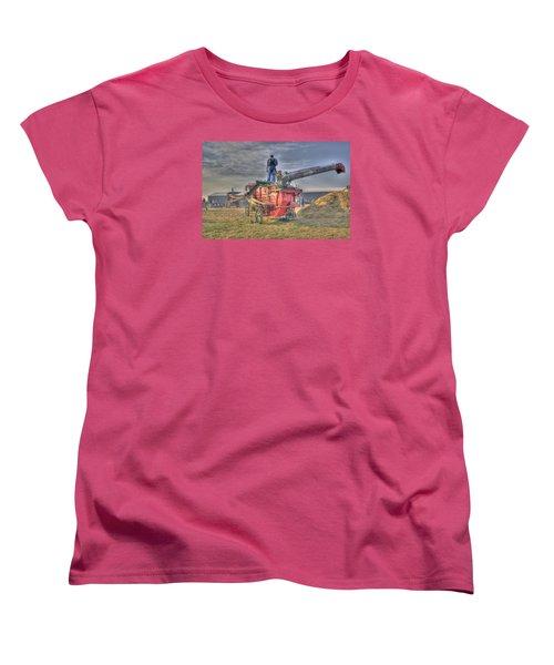 Threshing At Rollag Women's T-Shirt (Standard Cut) by Shelly Gunderson