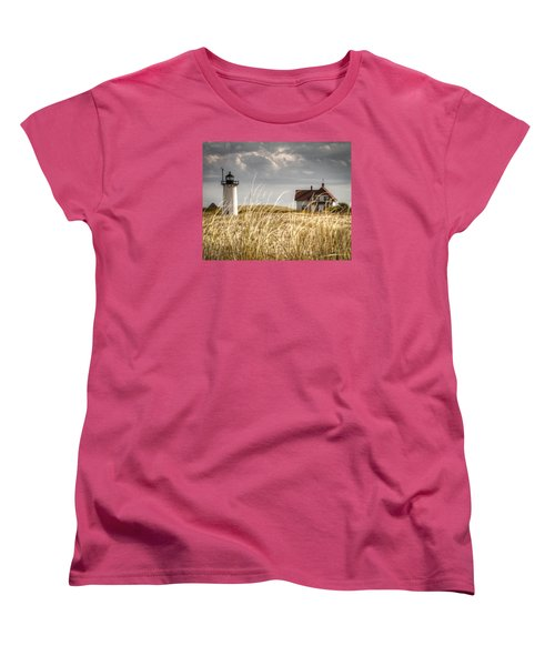 Race Point Light Through The Grass Women's T-Shirt (Standard Cut) by Brian Caldwell