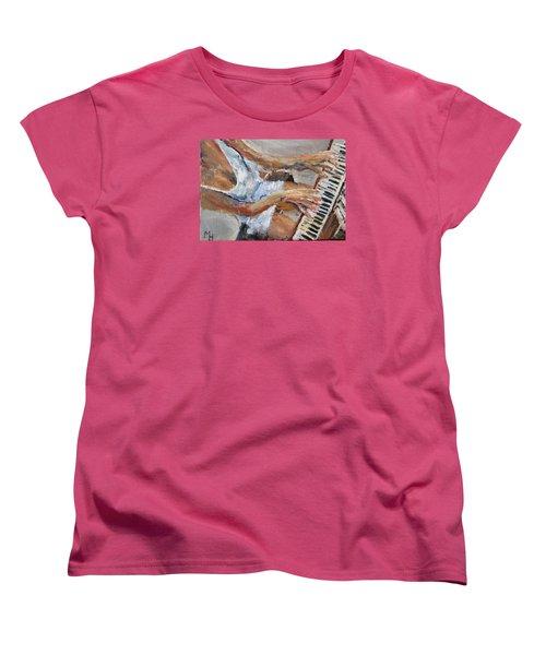 Tickling The Ivories Women's T-Shirt (Standard Cut) by Michael Helfen