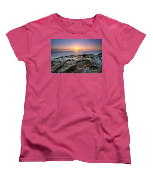 Tide Pool Sunset Women's T-Shirt (Standard Cut) by Michael Ver Sprill