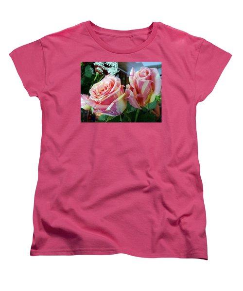 Tie Dye Roses Women's T-Shirt (Standard Cut) by Deborah Lacoste