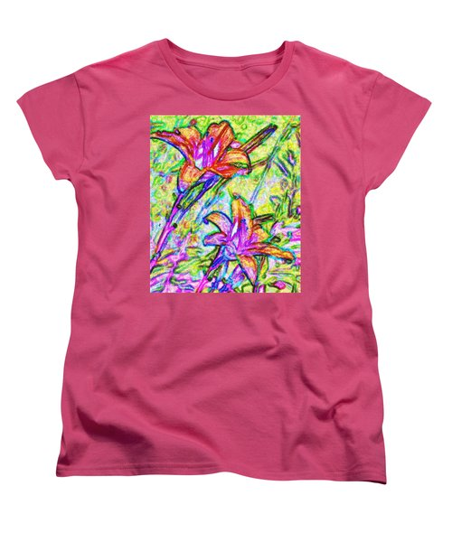 Tiger Lillies Women's T-Shirt (Standard Cut) by Ian  MacDonald