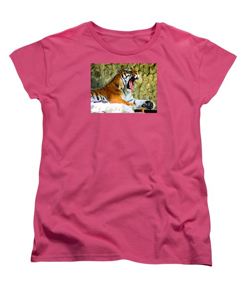 Tiger Women's T-Shirt (Standard Cut) by Oleg Zavarzin