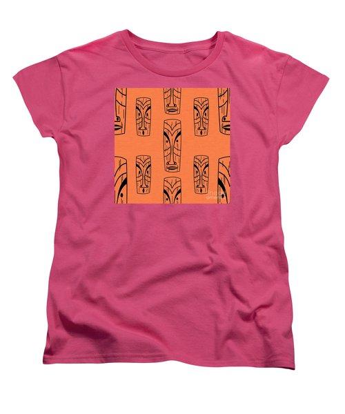 Tiki On Orange Pillow Women's T-Shirt (Standard Cut)