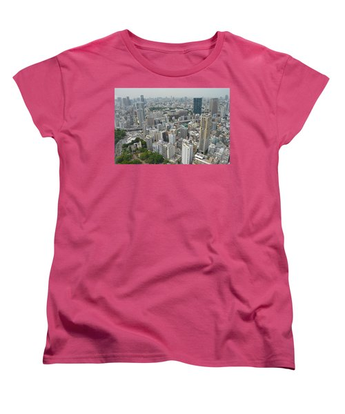 Tokyo Intersection Skyline View From Tokyo Tower Women's T-Shirt (Standard Cut) by Jeff at JSJ Photography