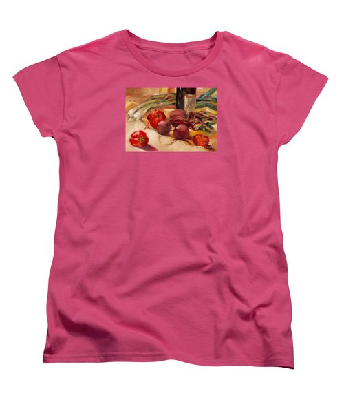Women's T-Shirt (Standard Cut) featuring the painting Tom's Bounty by Michelle Abrams