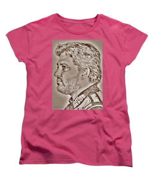Tony Stewart In 2011 Women's T-Shirt (Standard Cut) by J McCombie