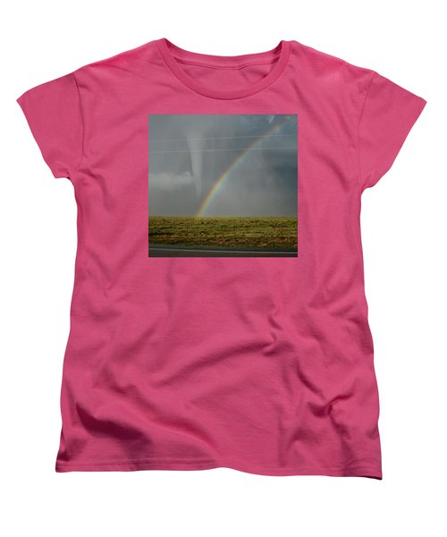 Tornado And The Rainbow Women's T-Shirt (Standard Cut) by Ed Sweeney