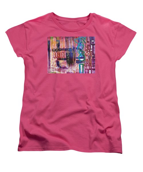 Women's T-Shirt (Standard Cut) featuring the painting Tortured Links by Jason Williamson