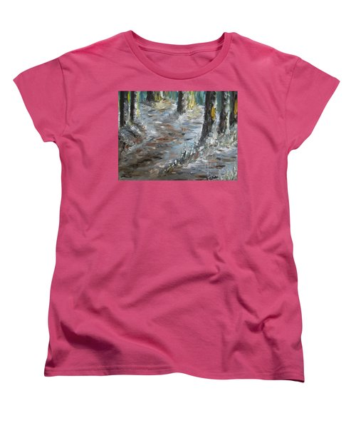 Women's T-Shirt (Standard Cut) featuring the painting Touch Of Christmas by Teresa White