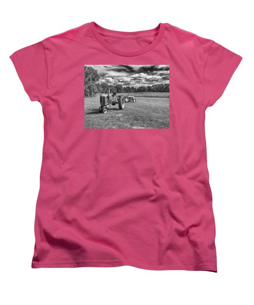 Women's T-Shirt (Standard Cut) featuring the photograph Tractors by Howard Salmon