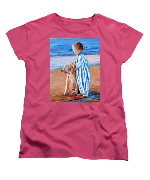 Women's T-Shirt (Standard Cut) featuring the painting Training Day by Molly Poole