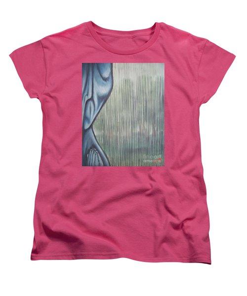 Tranquil Rain Women's T-Shirt (Standard Cut) by Michael  TMAD Finney