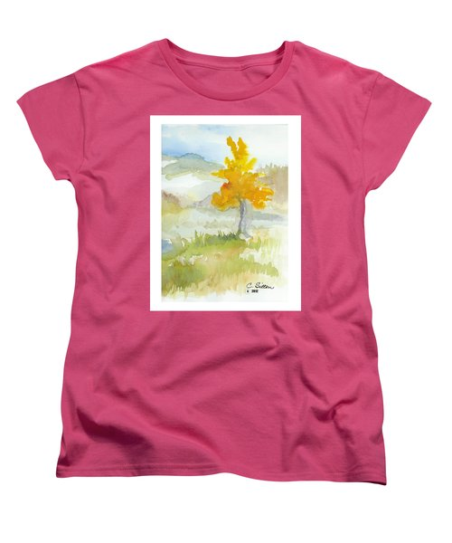 Women's T-Shirt (Standard Cut) featuring the painting Tree by C Sitton