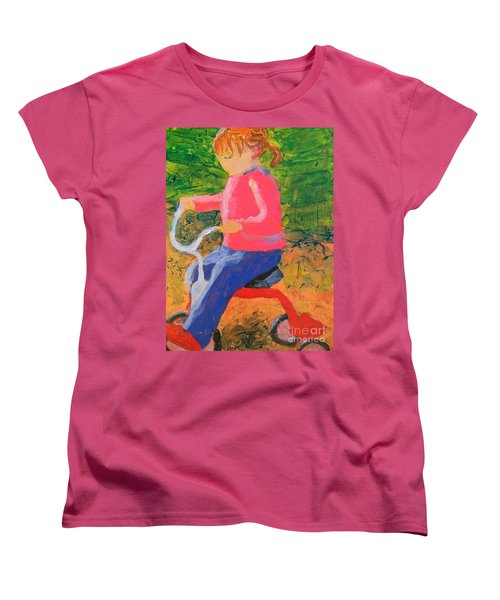 Women's T-Shirt (Standard Cut) featuring the painting Tricycle by Donald J Ryker III