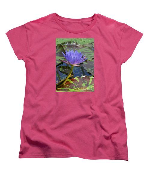 Women's T-Shirt (Standard Cut) featuring the photograph Tropic Water Lily 15 by Rudi Prott