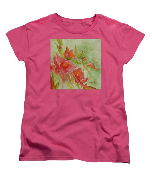 Women's T-Shirt (Standard Cut) featuring the painting Tropical Splash by Judith Rhue