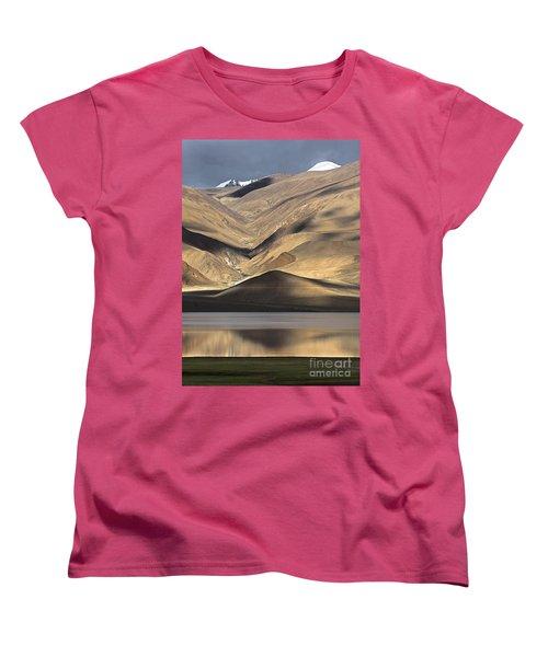 Golden Light Tso Moriri, Karzok, 2006 Women's T-Shirt (Standard Cut) by Hitendra SINKAR