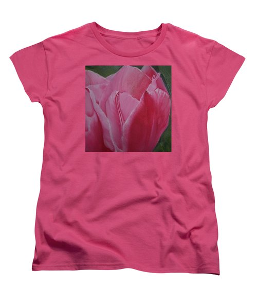 Tulip Blooming Women's T-Shirt (Standard Cut) by Claudia Goodell