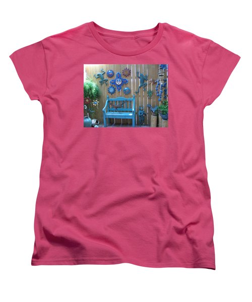 Women's T-Shirt (Standard Cut) featuring the photograph Turquoise Corner by Dora Sofia Caputo Photographic Art and Design