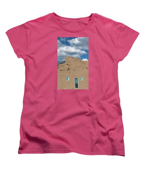 Turquoise Door And Windows Women's T-Shirt (Standard Cut) by Elvira Butler