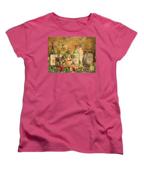 Tuscan Wine Treasures Women's T-Shirt (Standard Cut) by Jean Plout