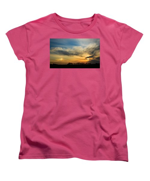 Women's T-Shirt (Standard Cut) featuring the photograph Two Suns Over Kentucky by Peta Thames