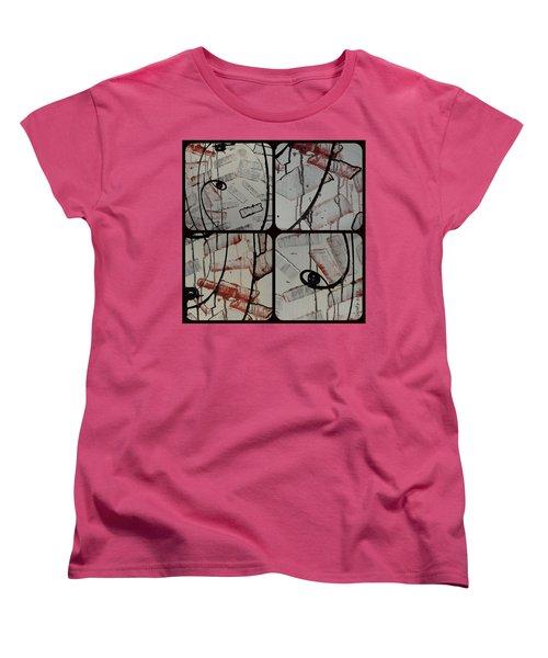 Women's T-Shirt (Standard Cut) featuring the photograph Unfaithful Desire Part Two by Sir Josef - Social Critic - ART