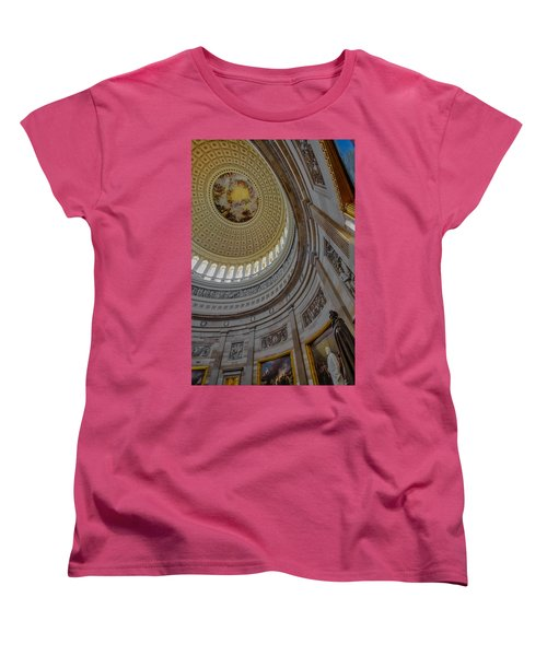 Unites States Capitol Rotunda Women's T-Shirt (Standard Cut) by Susan Candelario