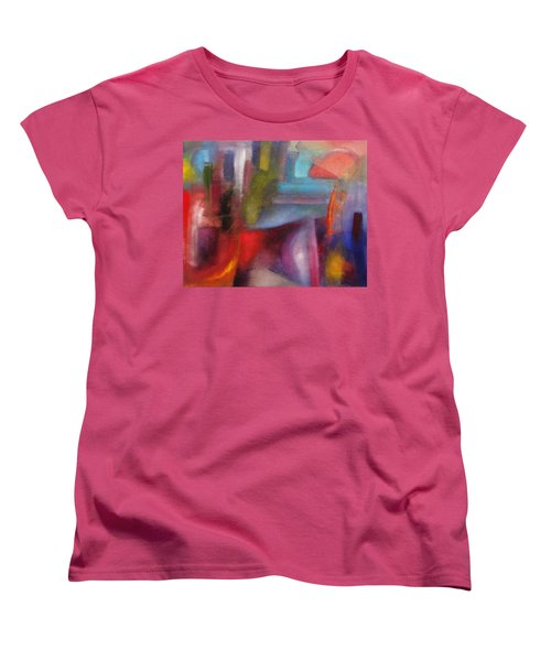Women's T-Shirt (Standard Cut) featuring the painting Untitled #3 by Jason Williamson