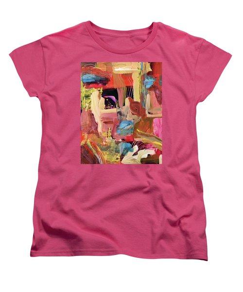 Untitled Abstract Women's T-Shirt (Standard Cut) by Erika Pochybova