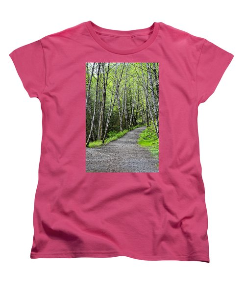 Women's T-Shirt (Standard Cut) featuring the photograph Up The Trail by Cathy Mahnke