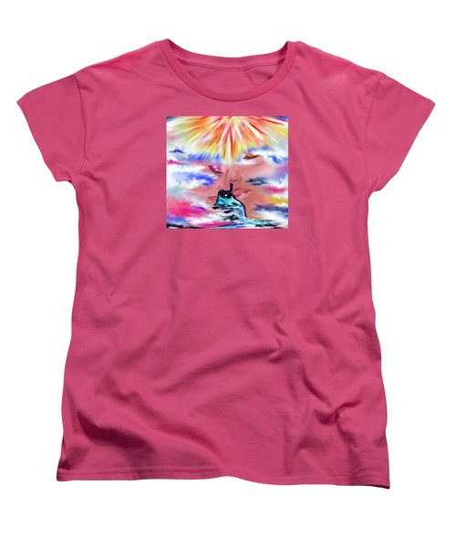 Women's T-Shirt (Standard Cut) featuring the drawing Eternal Love by Lori  Lovetere