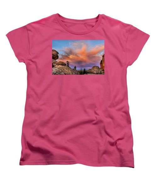 Vedauwoo Sunrise Women's T-Shirt (Standard Cut) by Steven Reed