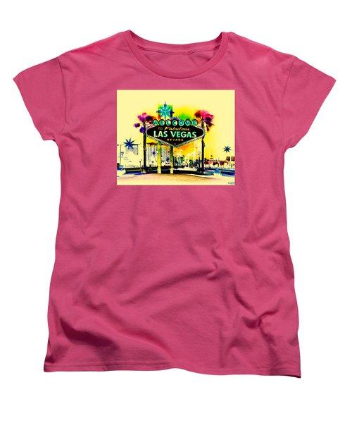 Vegas Weekends Women's T-Shirt (Standard Cut) by Az Jackson