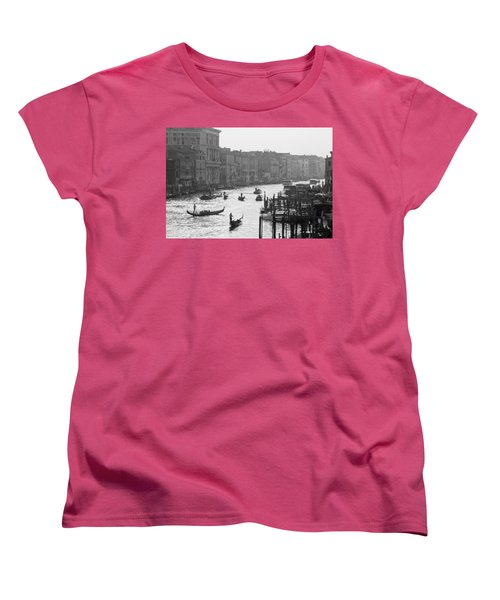 Women's T-Shirt (Standard Cut) featuring the photograph Venice Grand Canal by Silvia Bruno