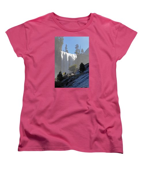 Vernal Falls Mist Trail Women's T-Shirt (Standard Cut) by Duncan Selby