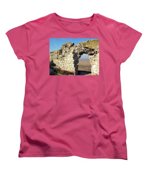 Women's T-Shirt (Standard Cut) featuring the photograph View From Enisala Fortress 2 by Manuela Constantin