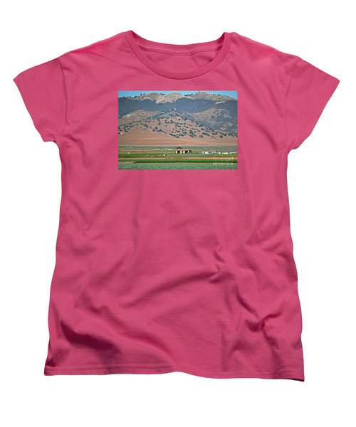 Women's T-Shirt (Standard Cut) featuring the photograph View From The Crops by Susan Wiedmann