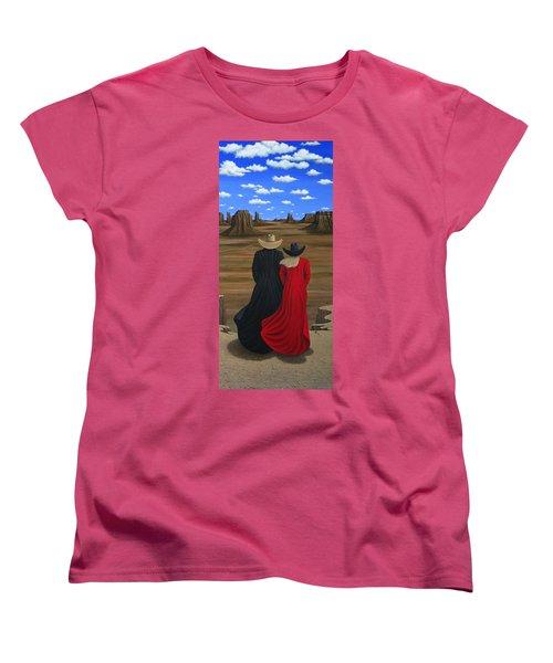 View West Women's T-Shirt (Standard Cut) by Lance Headlee