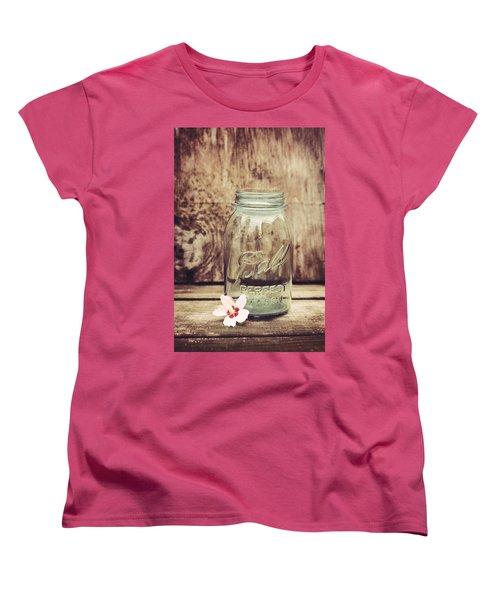 Vintage Ball Mason Jar Women's T-Shirt (Standard Cut) by Terry DeLuco