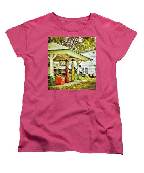 Visible Gas Pumps Women's T-Shirt (Standard Cut) by Jean Goodwin Brooks