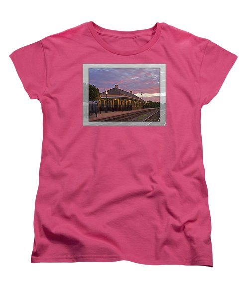 Waiting On The Train Women's T-Shirt (Standard Cut) by Walter Herrit
