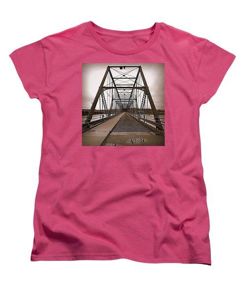 Walnut Street Bridge Women's T-Shirt (Standard Cut) by Joseph Skompski
