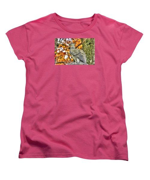 Women's T-Shirt (Standard Cut) featuring the photograph War Eagles - 28th Massachusetts Volunteer Infantry Rose Woods The Wheatfield Fall-a Gettysburg by Michael Mazaika