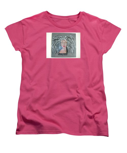 Women's T-Shirt (Standard Cut) featuring the painting Warrior Woman #2 by Sharyn Winters